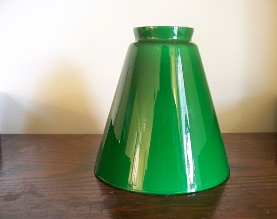 93 best lamp styles images on pinterest glass lamps lamp shades green glass lamp shade cone shape cased glass vianne by goodandold 2000 aloadofball Images