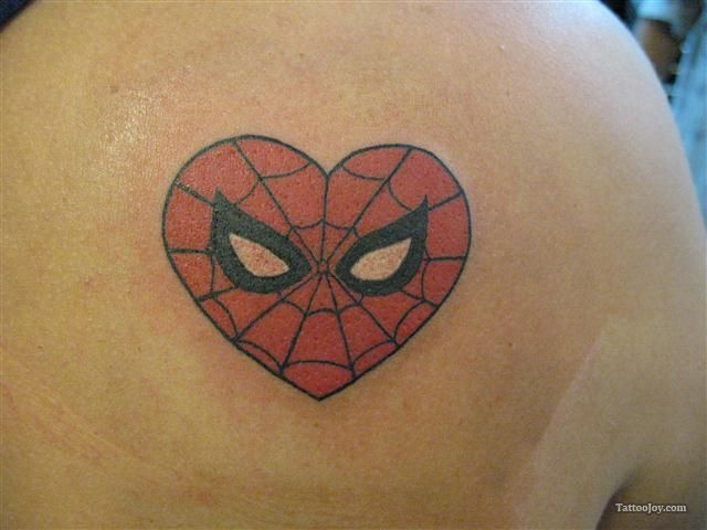 Spiderman Heart Tattoo | Tattoos | Pinterest