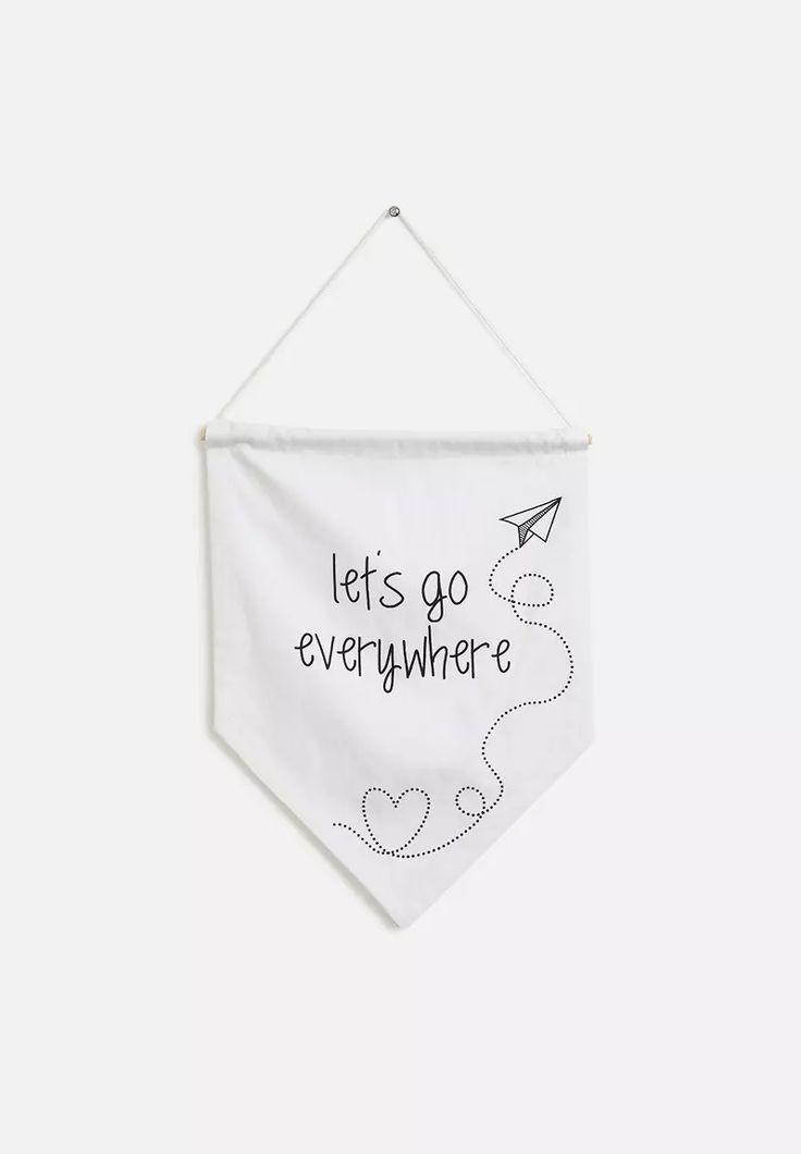Let's Go Everywhere Wall Banner