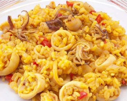 arroz fácil con calamares