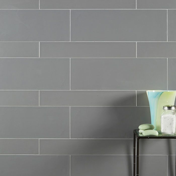 How To Create A Greyscale Bathroom: Pattern Smooth Ceramic Tile