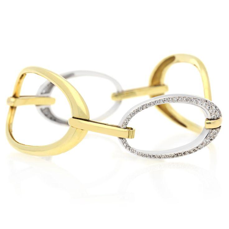 18K White and Yellow Gold Bracelet For Sale by Uwe Koetter.    www.uwekoetter.com