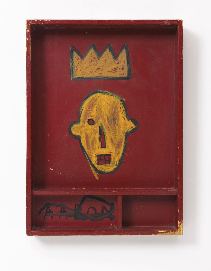 Jean-Michel Basquiat  Untitled  1981  acrylic and marker on wooden    Jean Michel Basquiat Crown
