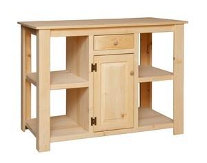 Primitive Kitchen Center Island Open Shelves Farmhouse Country Cottage Furniture | eBay