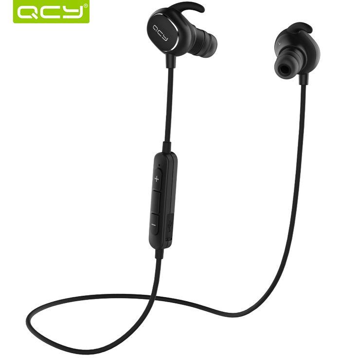 QCY QY19 Английский голос IPX4 rated sweatproof bluetooth стерео наушники беспроводные спорт наушники aptX гарнитура для всех телефонов купить на AliExpress