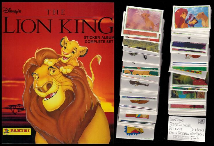 """Lion King"" Storybook Sticker Album Disney Panini"