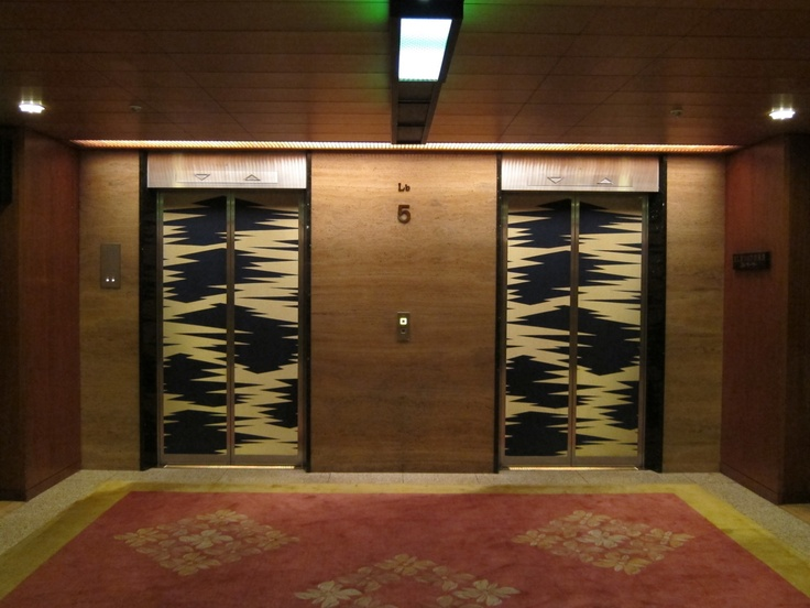 Noren Over Elevator Doors!
