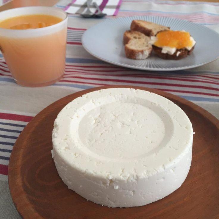 Con un litro de leche, un yogur y medio limón prepararás un magnífico queso fresco