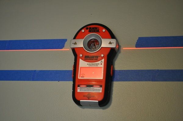 Black and Decker laser level-for painting horizontal stripes in room