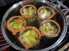 Appels in grote pan