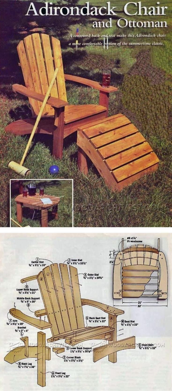25 best ideas about chair and ottoman on pinterest for Adirondack ottoman plans