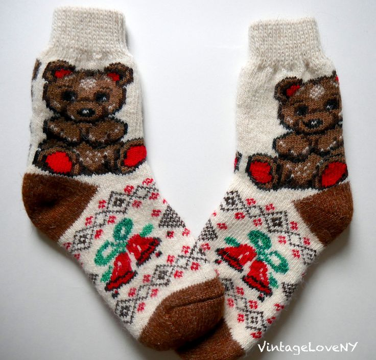 Men's Wool Warm Socks Ornament Handmade Knitting #1. Brown 47cPwNz