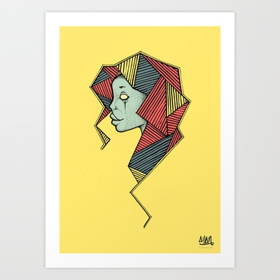 Another Girl Art Print by Allan Diego - $22.88
