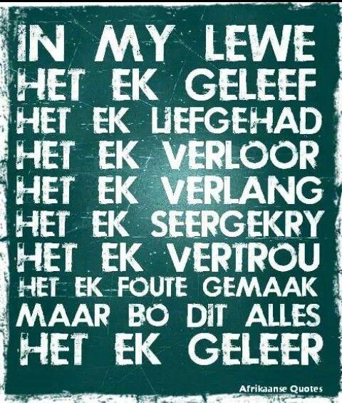 In my lewe - Afrikaans