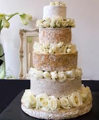 wedding cheese cake with flowers