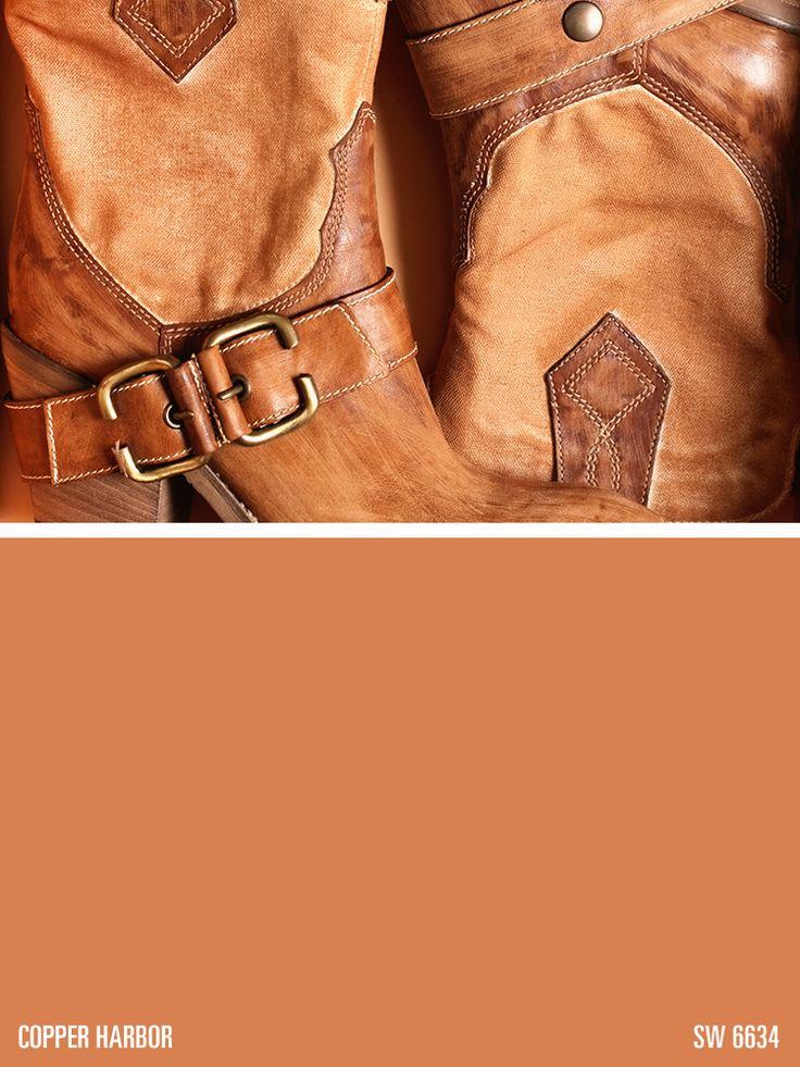 Sherwin-Williams orange paint color – Copper Harbor (SW 6634)