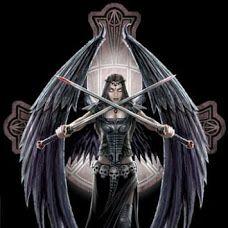 Падший ангел и девушка-дракон.