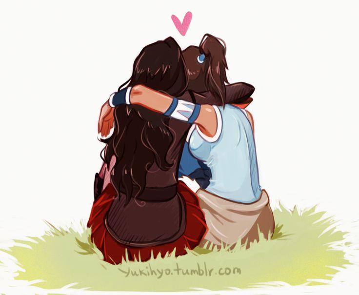 Korrasami hug, their so cute!!!!