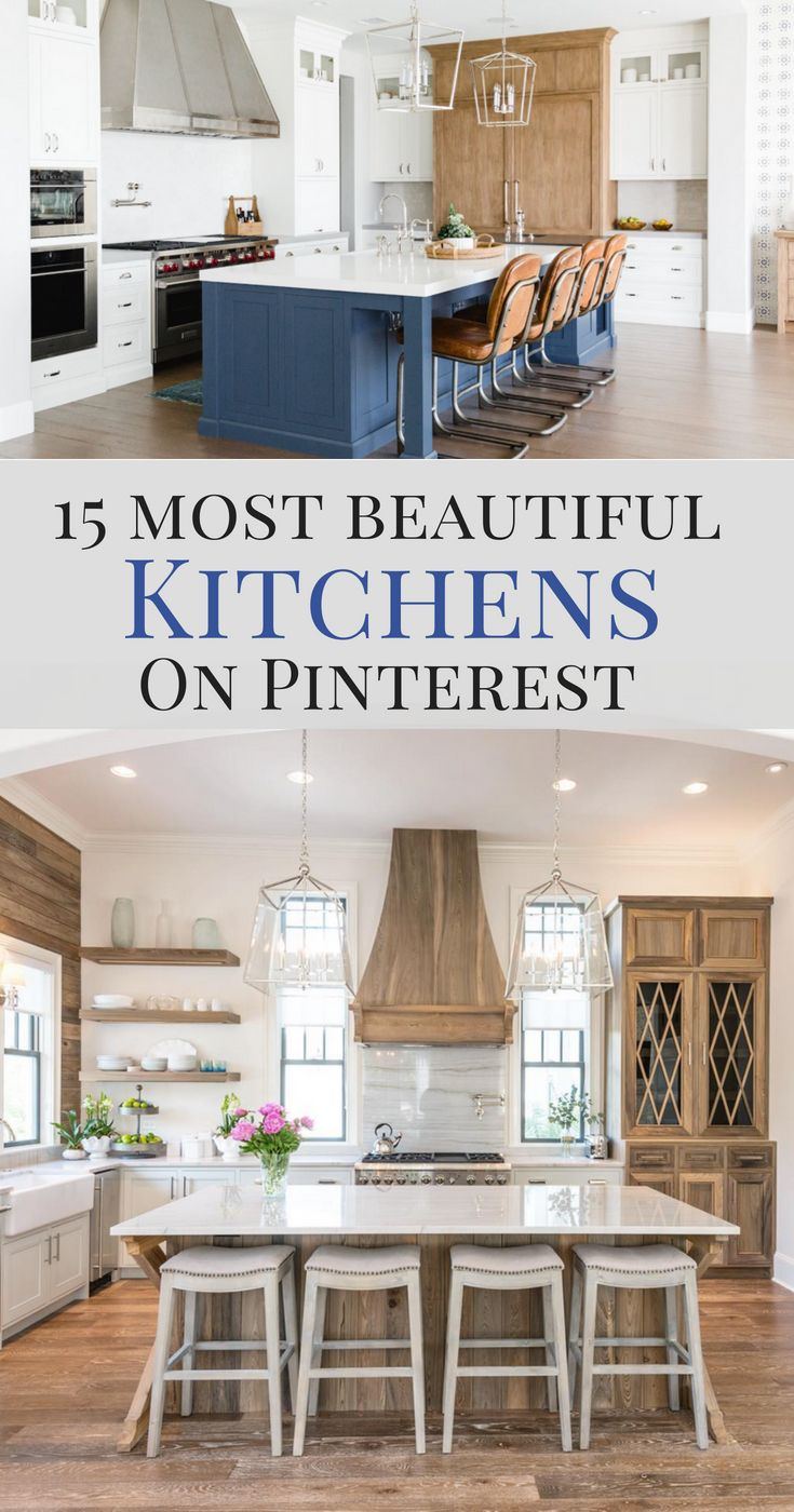 Best The 15 Most Beautiful Kitchens On Pinterest Modern 400 x 300