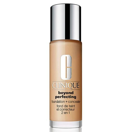 If you need more coverage, consider this foundation and concealer in one. Polymer technology in the full-coverage, moisturizing formula give the makeup a flexible, breathable film, ensuring your skin won't look too made up or cakey.