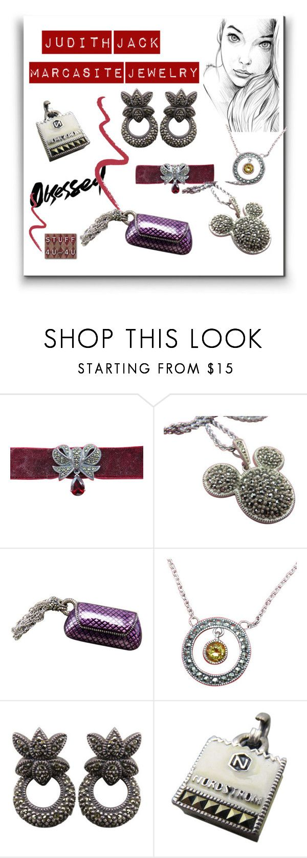 """""""Judith Jack Marcasite Jewelry"""" by stuff4uand4u ❤ liked on Polyvore featuring Judith Jack, Topshop, stuff4uand4u and stuffalicious"""