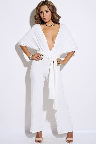 Watch more like White Jumpsuits For Women White Party