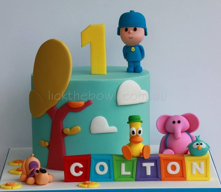 Pocoyo cake by lick the bowl