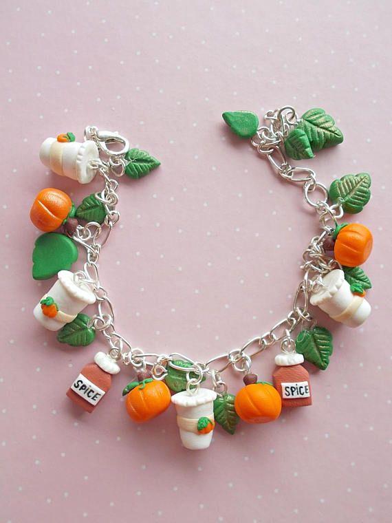 Pumpkin Bracelet  Pumpkin Jewelry  Halloween Bracelet