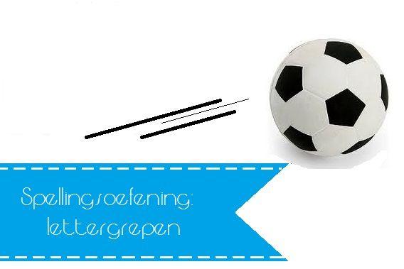 spellingsoefening: woord in klankgroepen verdelen met een bal