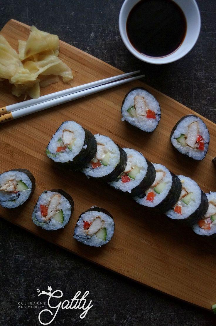 Kulinarne przygody Gatity - przepisy pełne smaku: Domowe sushi, maki z kurczakiem teriyaki