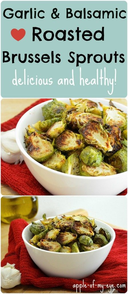 Garlic Balsamic Roasted Brussels Sprouts. These are delicious, easy to make, and will turn any picky eater into a vegetable lover!