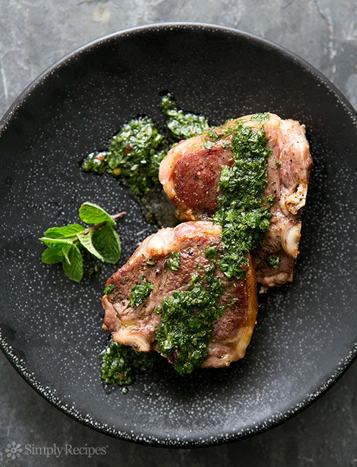 Lamb Loin Chops with Mint Chimichurri Recipe | Simply Recipes