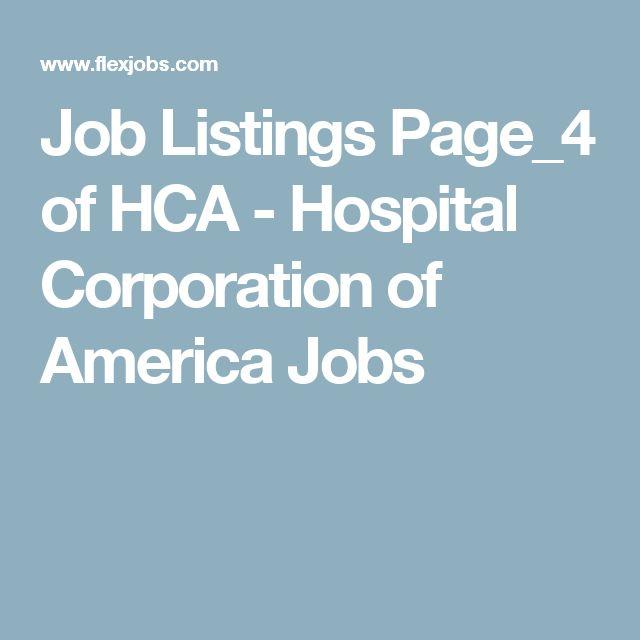 Job Listings Page_4 of HCA - Hospital Corporation of America Jobs