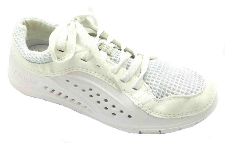 Glagla Tivano All Plain White Lightweight Machine Washable Running Trainers