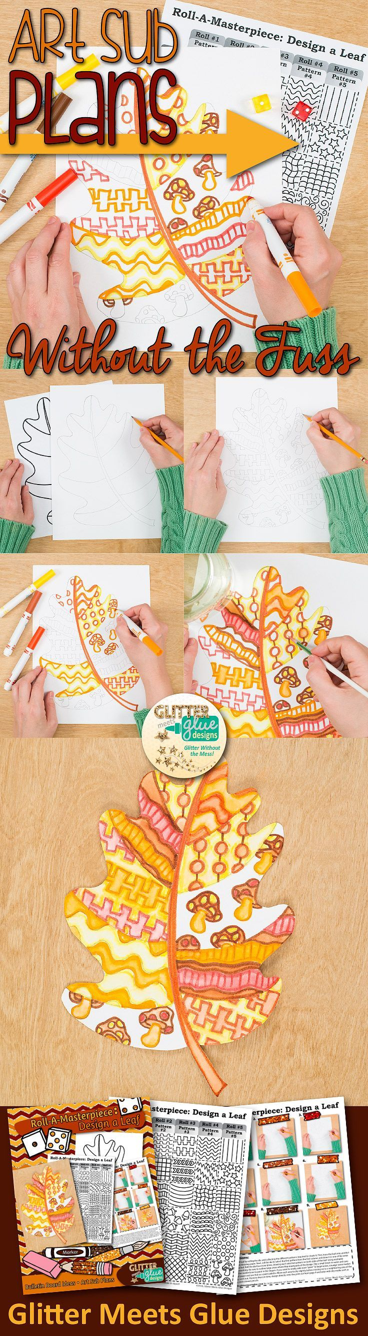 Fall activities don't have to be so time consuming. Why stress yourself out coming up with fun, engaging projects to display when you can download them instantly? No more last minute scrambling! Check out this Fall leaves project. It's perfect for Autumn bulletin boards and simple enough to leave with a substitute teacher, too.