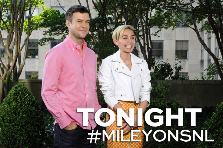 Miley Cyrus hosts and performs as musical guest tonight on Saturday Night Live! #SNL #MileyCyrus