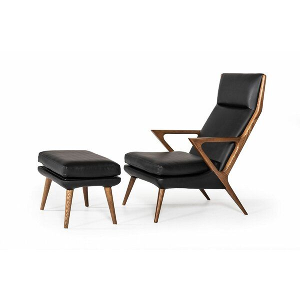 Ellesmere Lounge Chair And Ottoman In 2020 Modern Black Lounge Chair Black Lounge Chair Chair And Ottoman