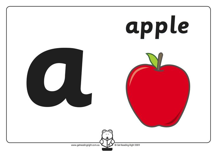 Basic Code - A picture for each letter of the alphabet classroom display.