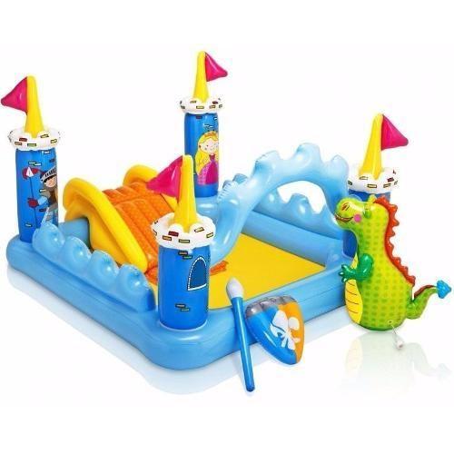 Piscina Inflável Playground Castelo 178 L Brinquedos Intex