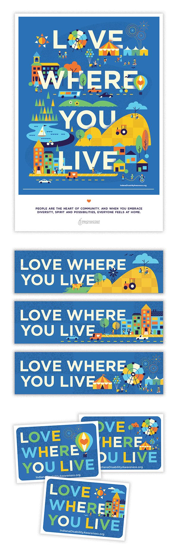 Love Where You Live on Behance, by the amazing Brad Woodard