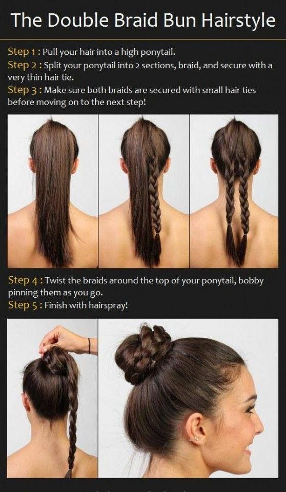 Easy braided bun...I love this! Maybe this will be my answer to the messy bun, since mine never look right!