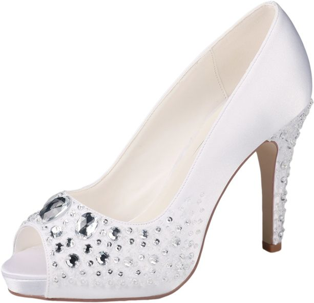 Peep-toe wedding shoes by G.Westerleigh