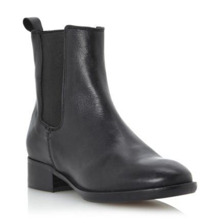 dune ladies black leather chelsea boot, dune shoes online