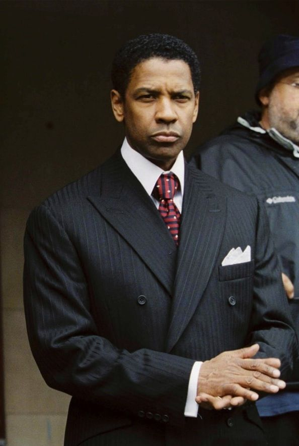 American Gangster - Denzel Washington as Frank Lucas, adding sophistication and elegance to the Harlem drug lord #GangsterMovie #GangsterFlick