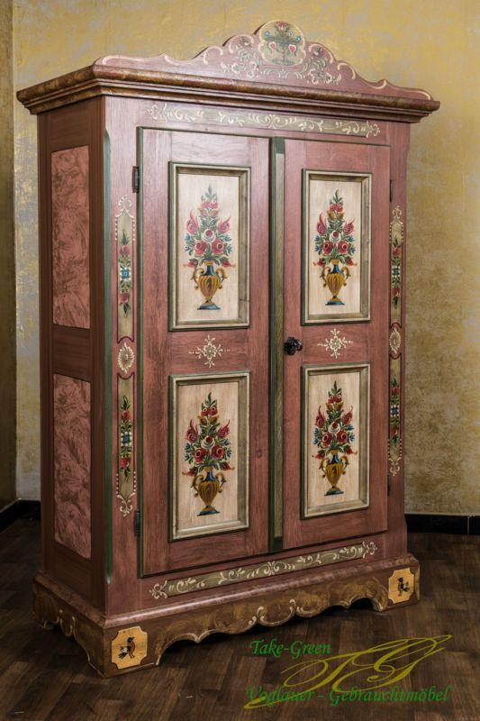 Voglauer Anno 1800 Bauernschrank Landhaus Schrank Kleiderschrank Kasten  Bemalt In Möbel U0026 Wohnen, Möbel, Kleiderschränke