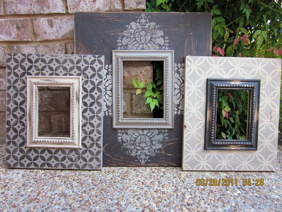 Barnwood Grouping of THREE 5x7 Distressed Picture by ShirleyFrames