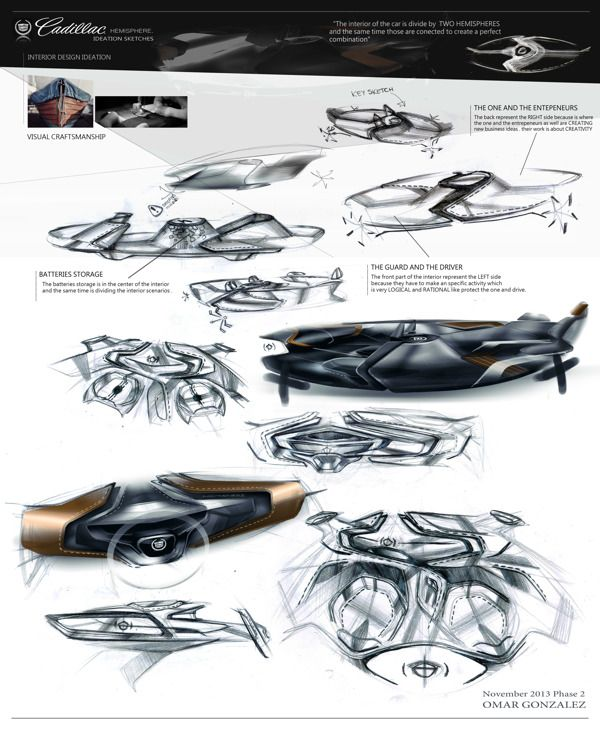 Cadillac Hemisphere On Behance Car InteriorsInterior Designing CadillacSketches