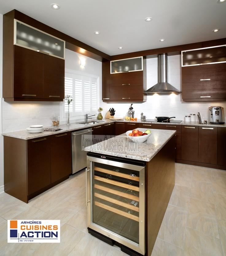 un cuisine en wenge un placage de bois exotique et l 39 impact est r ussi le comptoir. Black Bedroom Furniture Sets. Home Design Ideas