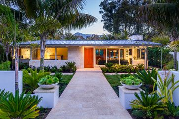 Mid century modern curb appeal. Villa Vicin' 'O Mare - modern - exterior - santa barbara - Allen Associates