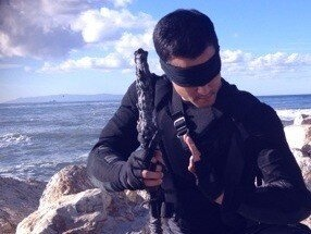 "Daniel Southworth as ""Kenshi""--location shot from Mortal Kombat Legacy Season 2"
